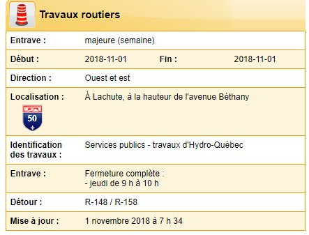 INFOR-TRAVUX MTQ 1er nov